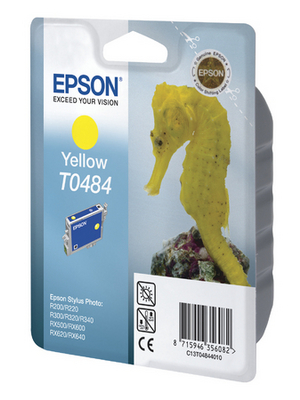 Epson - C13T04844010 - Ink T0484 yellow, C13T04844010, Epson