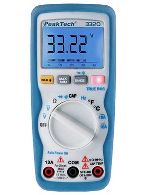 PeakTech - PEAKTECH 3320-DISCONT. - Multimeter digital TRMS AC 6000 digits 1000 VAC 1000 VDC 10 ADC, PEAKTECH 3320-DISCONT., PeakTech