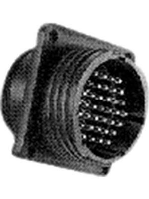 TE Connectivity - 206705-1 - Receptacle CPC1 Poles=9, accepts male contacts / Square Flange, 206705-1, TE Connectivity