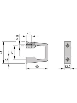 Pentair Schroff - 10501-005 - Front handle, 10501-005, Pentair Schroff