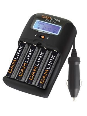 Camlink - CL-OMEGA-27UK - Charger and batteries 4 channels 12 DC / 230 VAC 1.2 V, CL-OMEGA-27UK, Camlink
