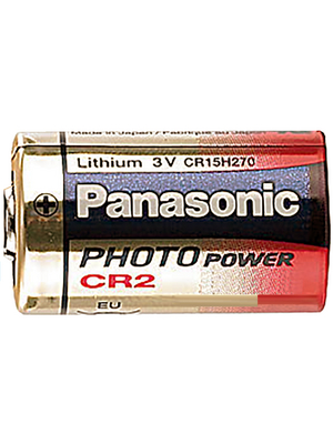 Panasonic Automotive & Industrial Systems - CR2 - Photo battery Lithium 3 V 750 mAh, CR2, Panasonic Automotive & Industrial Systems