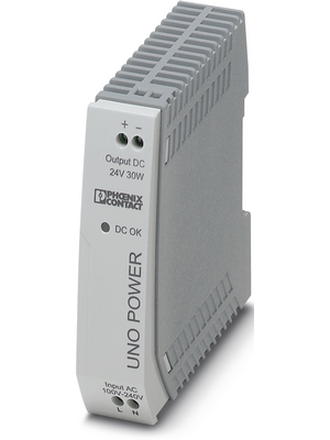 Phoenix Contact - UNO-PS/1AC/24DC/ 30W - Switched-mode power supply / 1.25 A, UNO-PS/1AC/24DC/ 30W, Phoenix Contact