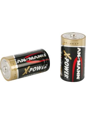 Ansmann - X-POWER 2C - Primary battery 1.5 V LR14/C Pack of 2 pieces, X-POWER 2C, Ansmann