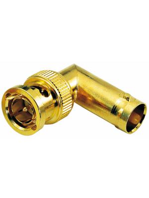 Contrik - BNCM-BNCF/R - Adapter BNC male/female angled 75 Ohm, BNCM-BNCF/R, Contrik