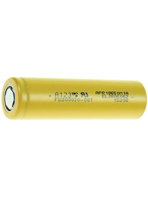 A123 Systems - APR18650M1 - LiFePO4-Battery 3.3 V 1100 mAh, APR18650M1, A123 Systems