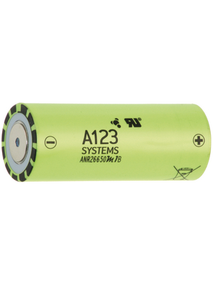 A123 Systems - ANR26650M1-2500 - LiFePO4-Battery 3.3 V 2500 mAh, ANR26650M1-2500, A123 Systems