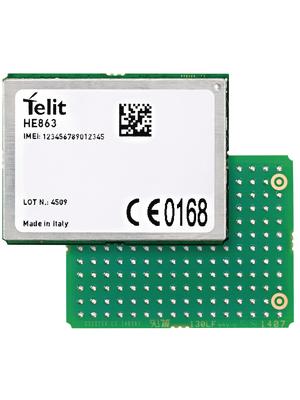Telit - HE863EUD102T007 - GSM module 850 MHz / 900 MHz / 1800 MHz / 1900 MHz / 2100 MHz, HE863EUD102T007, Telit