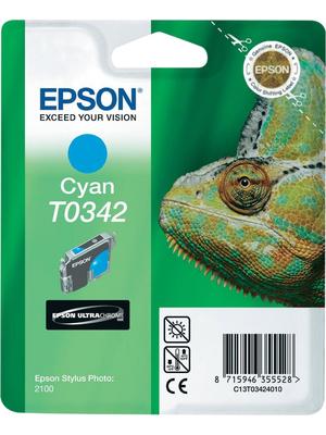 Epson - C13T03424010 - Ink T0342 Cyan, C13T03424010, Epson