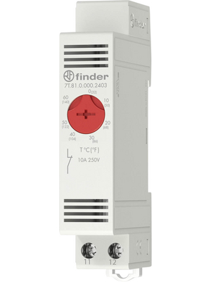Finder - 7T.81.0.000.2401 - Thermostat -20...+40 °C 1 NC, 7T.81.0.000.2401, Finder