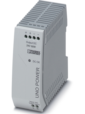 Phoenix Contact - UNO-PS/1AC/24DC/ 60W - Switched-mode power supply / 2.5 A, UNO-PS/1AC/24DC/ 60W, Phoenix Contact