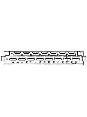 Pentair Schroff - 69001-860 - Male connector N/A 15 z + d, 69001-860, Pentair Schroff