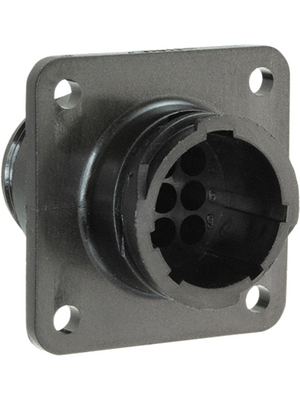 TE Connectivity - 206705-3 - Receptacle CPC Special Series 1 Poles=9, accepts male contacts / Square Flange / sealed, 206705-3, TE Connectivity