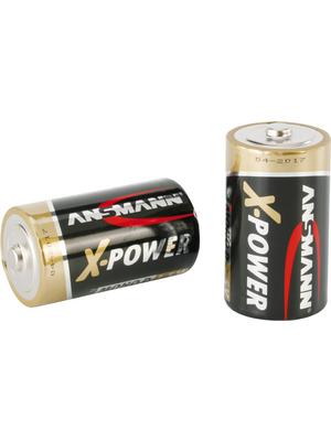 Ansmann - X-POWER 2D - Primary battery 1.5 V LR20/D Pack of 2 pieces, X-POWER 2D, Ansmann