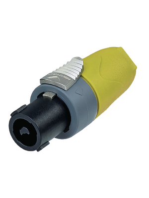 Neutrik - NL4FX-4 - Cable socket, Speakon yellow 4P, NL4FX-4, Neutrik