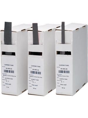 Woer - W-1-SB(3X)-3/1-BLACK - Adhesive heat-shrink tubing black 3.2 mmx5 m, W-1-SB(3X)-3/1-BLACK, Woer