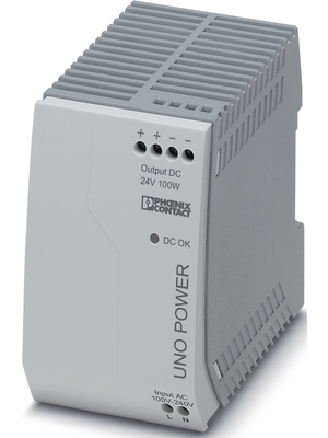 Phoenix Contact - UNO-PS/1AC/24DC/100W - Switched-mode power supply / 4.2 A, UNO-PS/1AC/24DC/100W, Phoenix Contact