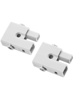 Adels Contact - AC 162 STS/ 2 LED GREY - Hermaphroditic connector 2P, AC 162 STS/ 2 LED GREY, Adels Contact