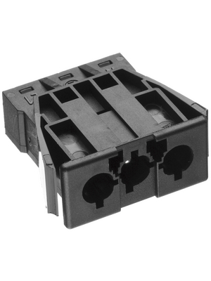 Adels Contact - AC 166 GEBU/ 3 BLACK - Panel mount socket Pitch9.75 mm Poles 3 AC 166 G, AC 166 GEBU/ 3 BLACK, Adels Contact