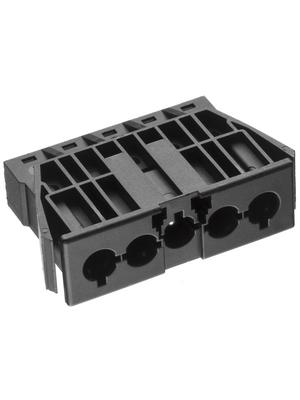 Adels Contact - AC 166 GEBU/ 5 BLACK - Panel mount socket Pitch9.75 mm Poles 5 AC 166 G, AC 166 GEBU/ 5 BLACK, Adels Contact