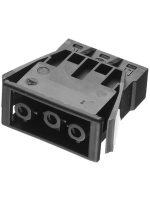 Adels Contact - AC 166 GEKST/ 3 BLACK - Panel mount plug Pitch9.75 mm Poles 3 AC 166 G, AC 166 GEKST/ 3 BLACK, Adels Contact