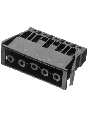 Adels Contact - AC 166 GEST/ 5 BLACK - Panel mount plug Pitch9.75 mm Poles 5 AC 166 G, AC 166 GEST/ 5 BLACK, Adels Contact