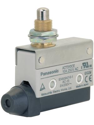 Panasonic - AZ7310CEJ - Limit switch AZ7 10 A Plunger N/A 1 change-over (CO), AZ7310CEJ, Panasonic