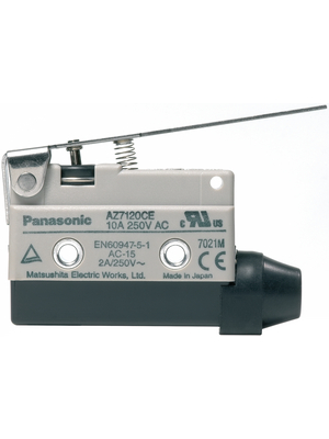 Panasonic - AZ7120CEJ - Limit switch AZ7 10 A Plunger N/A 1 change-over (CO), AZ7120CEJ, Panasonic