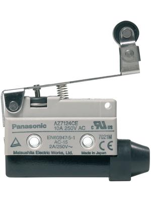 Panasonic - AZ7124CEJ - Limit switch AZ7 10 A Plunger N/A 1 change-over (CO), AZ7124CEJ, Panasonic