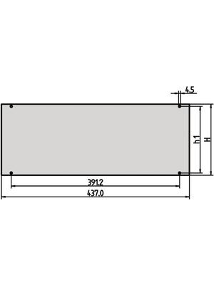 Pentair Schroff - 30828-058 - Front Panel 3 HE 84 TE, 30828-058, Pentair Schroff