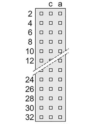 Pentair Schroff - 69001-877 - Female connector N/A 48 a + c + e, 69001-877, Pentair Schroff