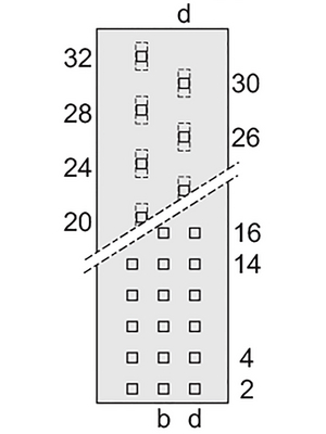 Pentair Schroff - 69001-905 - Male connector N/A 24+7 z + b + d, 69001-905, Pentair Schroff