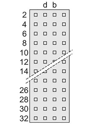 Pentair Schroff - 69001-856 - Male connector N/A 64 z + b + d + f, 69001-856, Pentair Schroff