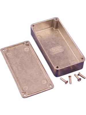 Hammond - 1590WG - Metal enclosure, Natural aluminum, 50 x 100 x 25.5 mm, Die cast aluminium, IP 65, 1590W, 1590WG, Hammond