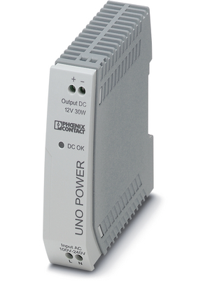 Phoenix Contact - UNO-PS/1AC/12DC/ 30W - Switched-mode power supply / 2.5 A, UNO-PS/1AC/12DC/ 30W, Phoenix Contact