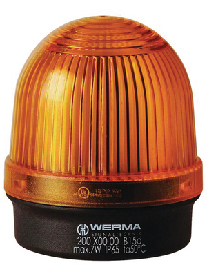 Werma - 200 300 00 - Continuous light, yellow, 12...240 VAC/DC, 200 300 00, Werma
