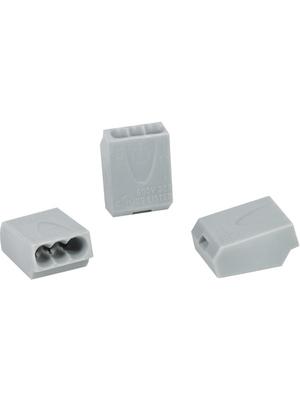 HellermannTyton - HECE-3 - Socket terminal Poles=3, 1...2.5 mm2 - 148-90007, HECE-3, HellermannTyton