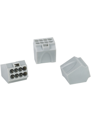 HellermannTyton - HECE-8 - Socket terminal Poles=8, 1...2.5 mm2 - 148-90010, HECE-8, HellermannTyton