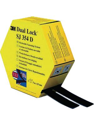 3M - SJ-354 D - Velcro tape black 25 mmx5 m PU=Reel of 5 meter, SJ-354 D, 3M