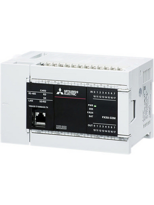 Mitsubishi Electric - FX5U-32MT/DSS - CPU Module, 2 AI, 16 TO, 1 AO, FX5U-32MT/DSS, Mitsubishi Electric