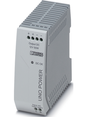 Phoenix Contact - UNO-PS/1AC/12DC/ 55W - Switched-mode power supply / 4.6 A, UNO-PS/1AC/12DC/ 55W, Phoenix Contact