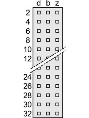Pentair Schroff - 69001-851 - Male connector N/A 32 z + b, 69001-851, Pentair Schroff