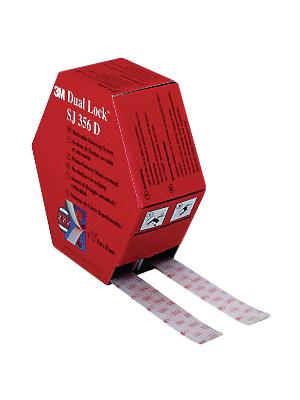 3M - SJ-356 D - Velcro tape transparent 25 mmx5 m PU=Reel, SJ-356 D, 3M