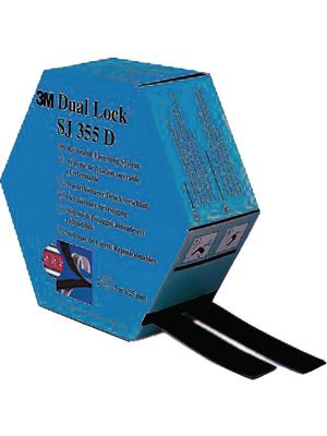 3M - SJ-355 D - Velcro tape black 25 mmx5 m PU=Reel, SJ-355 D, 3M