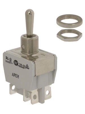 Apem - 647H/2 - Industrial toggle switch (on)-off-(on) 2P, 647H/2, Apem