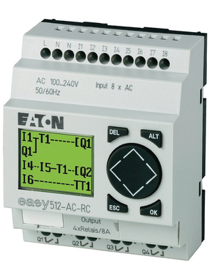 Eaton - EASY512-DC-TC - Control relays EASY, 8 DI (2 D/A), 4 TO, EASY512-DC-TC, Eaton