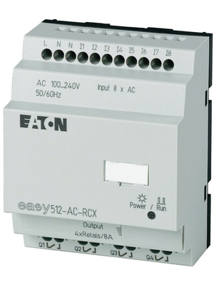 Eaton - EASY512-DA-RCX - Control relay without display EASY, 8 DI (2 D/A), 4 RO, EASY512-DA-RCX, Eaton