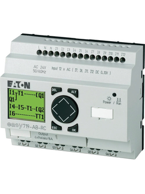 Eaton - EASY721-DC-TC - Control relays EASY, 12 DI (4 D/A), 8 TO, EASY721-DC-TC, Eaton