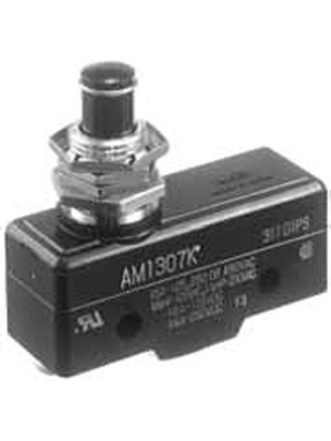 Panasonic - AM1307F - Micro switch 3 AAC Plunger, short N/A 1 change-over (CO), AM1307F, Panasonic