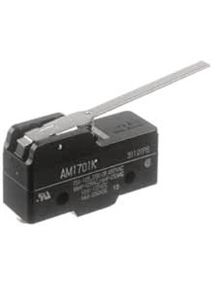 Panasonic - AM1701F - Micro switch 3 AAC Flat lever N/A 1 change-over (CO), AM1701F, Panasonic